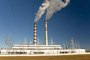 power plant close up. Belarus