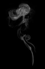Smoke color black and white isolated background.