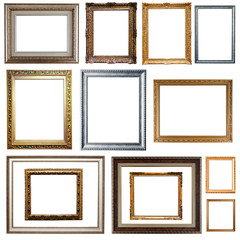 picture frames. Isolated on white