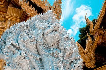 The stucco Phraya Nak in  lamphun Thailand