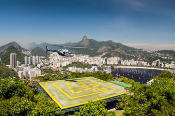 Heliport, Botafogo bay, Rio de Janeiro, Brazil