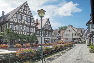 Bachanlage Oberkirch, Schwarzwald, im Sommer