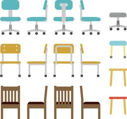 椅子、オフィスチェア、スツール