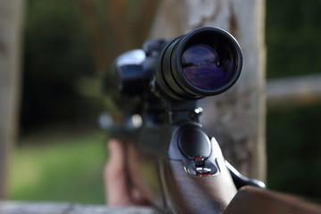 Zielfernrohr eines Jagdgewehres