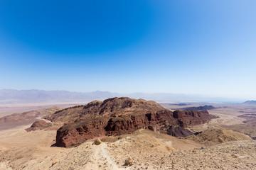 Desert mountains and cliffs.
