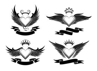 Winged Hearts Set