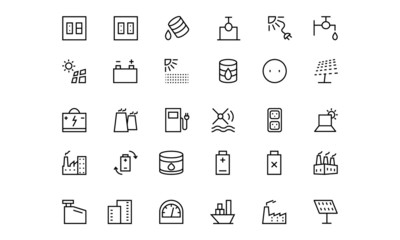 Energy Line Vector Icons 4