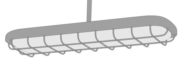 2d illustration of fluorescent light