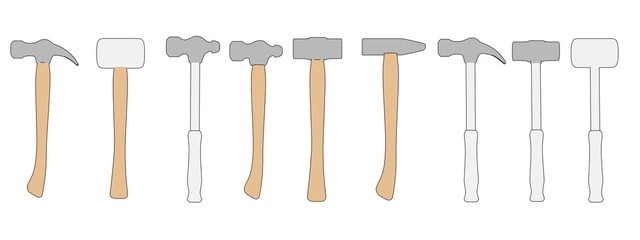 cartoon image of hammers (work tools)