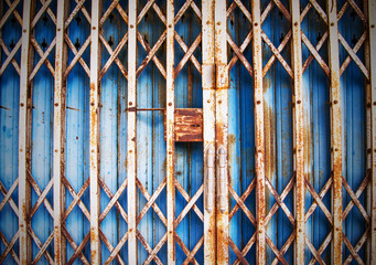 Old steel doors