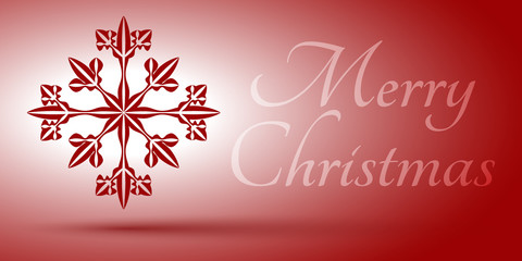 Xmas card with snowflake and sign. Editable vector. Eps 10