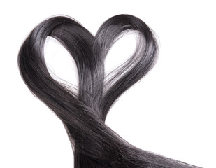 Hair heart, isolated on white