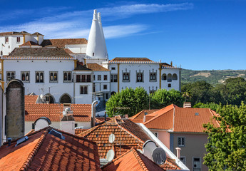 Fototapete - National Palace of Sintra, Portugal