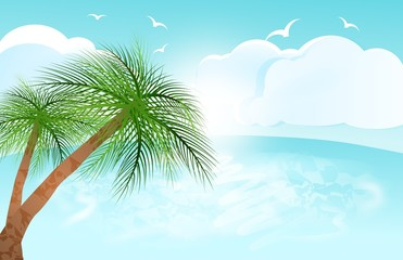 Tropical sea skyline