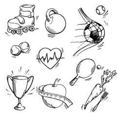 Set of sport icon