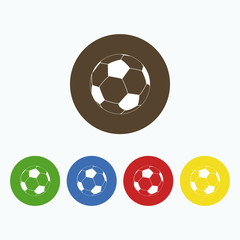Simple icon soccer ball.