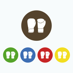 Simple image of boxing gloves.