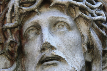 Jesus Christ in a crown of thorns