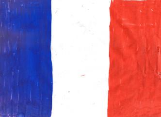 National flag of France illustration