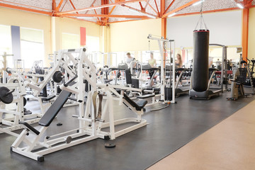 Interior of a fitness