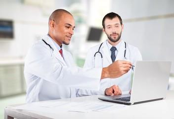 Doctor, Computer, Healthcare And Medicine.