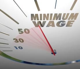Minimum Wage Speedometer Low Income Job Working Earnings