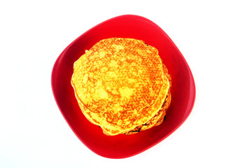 Pancake top view photo