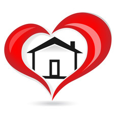House of love logo vector