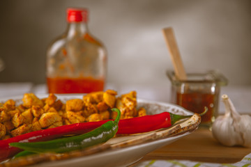 Asian cuisine, home-made natural, healthy food