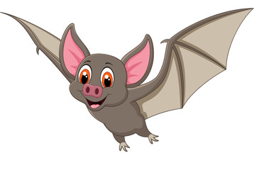 Bat cartoon flying. vector illustration