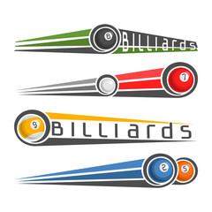 The image on the subject of billiards