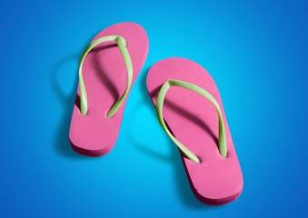 Flip-flop, Pink, Shoe.