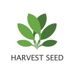 Harvest Seed logo icon vector