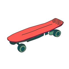 Colored doodle skateboard