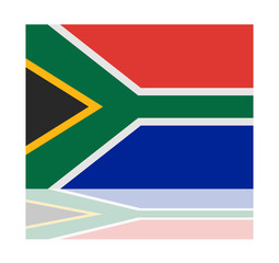 reflection flag south africa