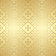 background with golden ornament - vector seamless