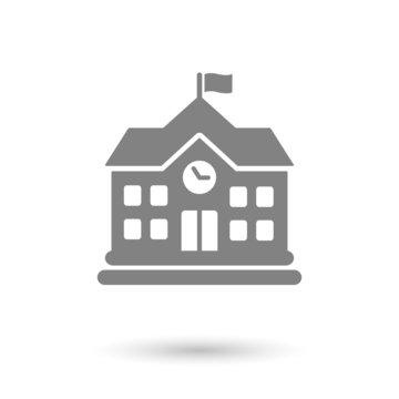 flat school icon background