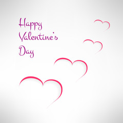 Valentines background with white hearts. Vector