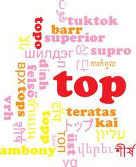 Top multilanguage wordcloud background concept