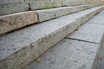 granite stairs Closeup