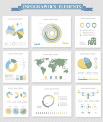 Infographic Elements Collection - Business Vector Illustration