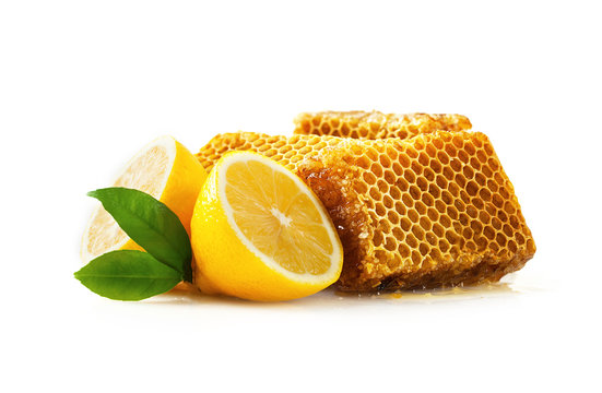 Honeycomb with lemon