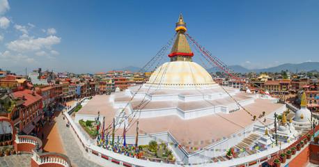 Boudhanath stupa in Kathmandu panorama