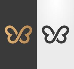 Butterfly line logo