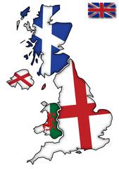 UK Flags On Maps