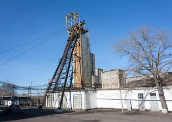 Headgear coal mine. Ukraine
