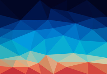 low polygon background polygon a complex color blue top red bott