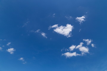 White Cloud and Blue Sky in Summer and Spring
