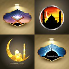 vector attractive set of ramadan kareem festival background illu