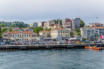 Istanbul. Pier and promenade in the Bosporus